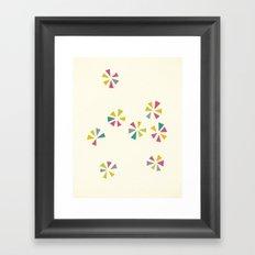 Colour Wheels Framed Art Print