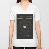 looking for alaska V-neck T-shirts featuring Looking For Alaska by Dani Aviles