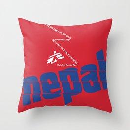 Nepal Aid Throw Pillow