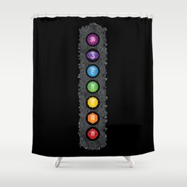 Seven Chakra Symbols #40 Shower Curtain