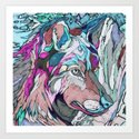 Colorful Wolf by catyarte