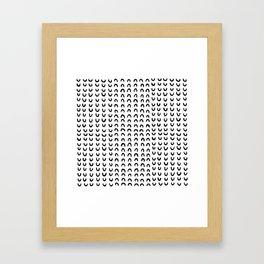 Media luna Framed Art Print