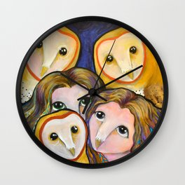 Owlets Wall Clock