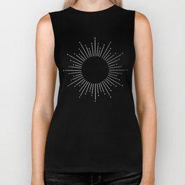 Sunburst Moonlight Silver on Black Biker Tank