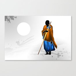 african art ethnic retro vintage Canvas Print