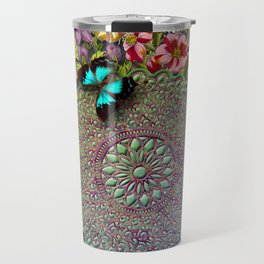 Mandala Flower Travel Mug