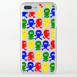4 Color Cute Ninja Clear iPhone Case
