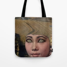 Country Girl with Natural Hair  - Vintage Collage Tote Bag