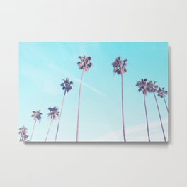 Palms Good Vibes Metal Print