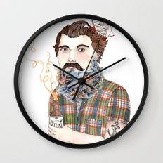 Flock of Beards Wall Clock