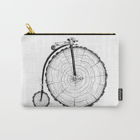 wooden bicycle Carry-All Pouch