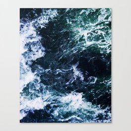 Wild ocean waves Canvas Print