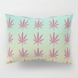 Rainbow Marijuana Leaf with Gradient Pillow Sham