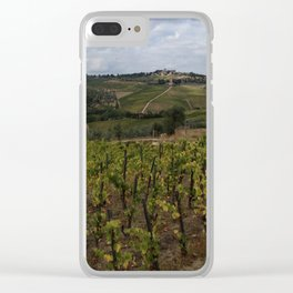 Tuscan Vineyard Clear iPhone Case