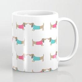 Cute dog lovers in white backgound Coffee Mug
