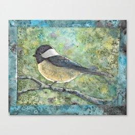 Watercolor Chickadee Canvas Print