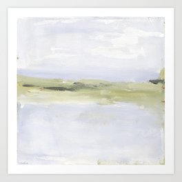 Painting of coastal, beach, ocean Art Print