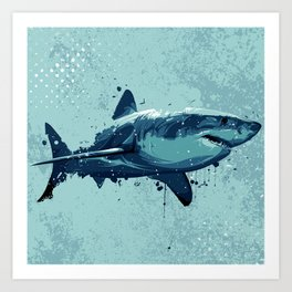 Guppy   Great White Shark Art Print