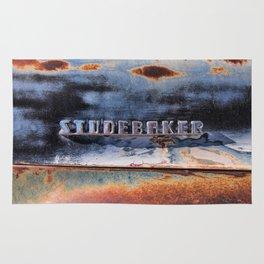 Studebaker Old Rusty Truck Emblem Rug