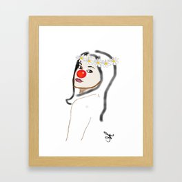 Rudolph Selfie - The Ghost of Christmas Present - The Christmas Spirit from A Christmas Carol Framed Art Print