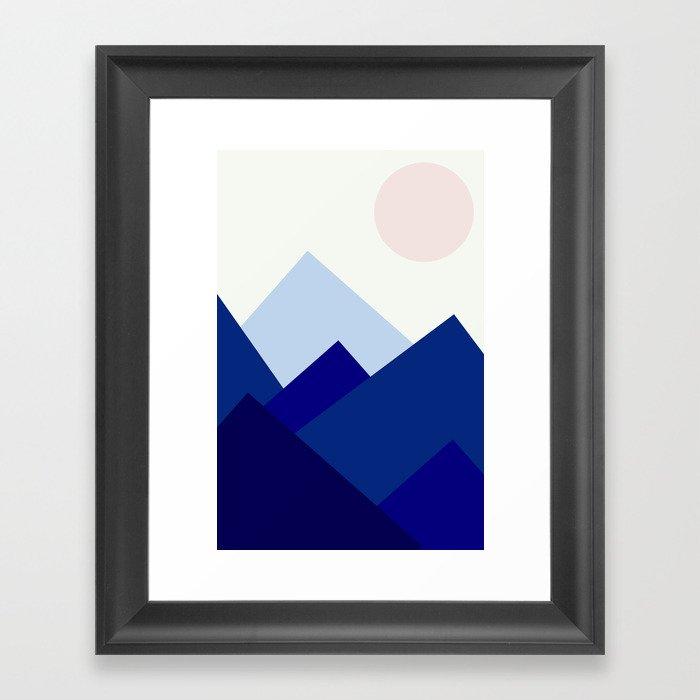 Blue mountains by Christine Framed Art Print