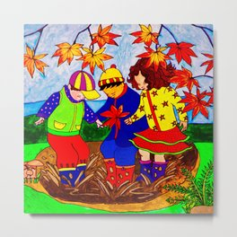 Splashy Puddle Jumpers Metal Print