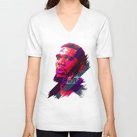 greg guillemin V-neck T-shirts featuring GREG ODEN MIAMI HEAT by mergedvisible