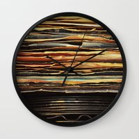 records Wall Clocks featuring Sunrise Records by Margaux Thibeault