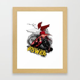 """InFamous Second Son - """"ENJOY YOUR POWER"""" Framed Art Print"""