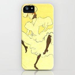 """Henri de Toulouse-Lautrec """"Troupe Mademoiselle Eglantine"""" iPhone Case"""