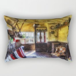 Olde Signal Box Rectangular Pillow