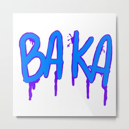 Baka Series (White) Metal Print