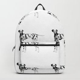 Dalmatian playful watercolor painting Backpack