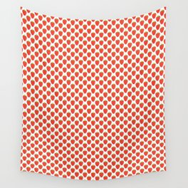 Red Strawberry Pattern Wall Tapestry