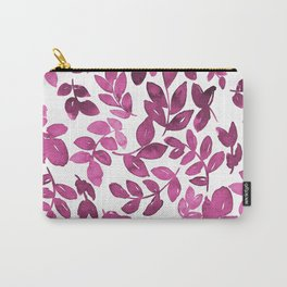 Fusia watercolour leaves pattern Carry-All Pouch