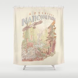 Adventure National Parks Shower Curtain