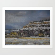 Billings, Rim-Rock Art Print