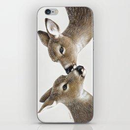 Kiss me my deer, by Claude Thivierge iPhone Skin