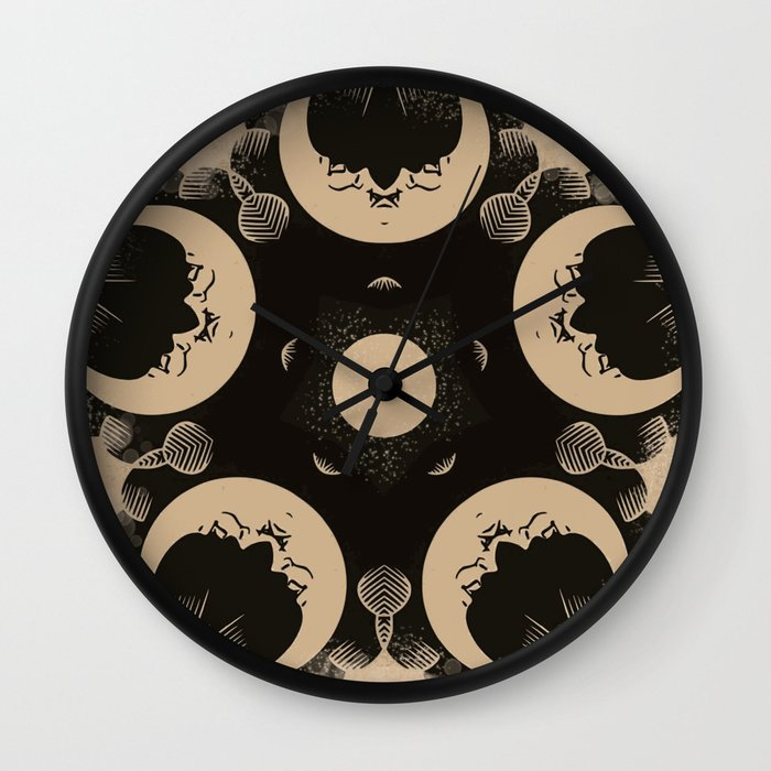 Ouija Wheel of the Moon - Beyond the Veil Wall Clock