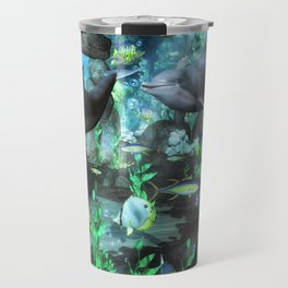 Dolphin's Under The Sea Travel Mug