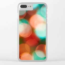 Abstract holiday background Clear iPhone Case