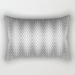 Cool Silver Grey Frosted Geometric Design Rectangular Pillow