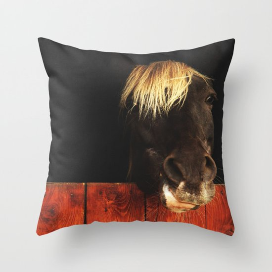 Hello? Can I help you? Throw Pillow