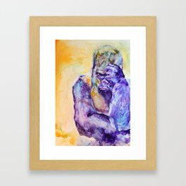 Disappointed Gorilla Framed Art Print