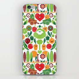Vegetables tile pattern iPhone Skin