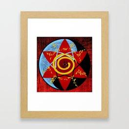 Naruto seal Framed Art Print