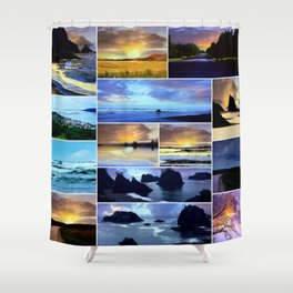 Scenic Photo Art Collage Shower Curtain