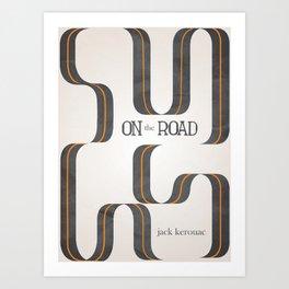 On The Road by Jack Kerouac Art Print