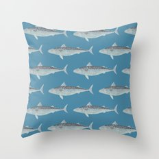 Wholly Mackerel Throw Pillow