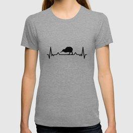 Kiwi bird heartbeat bouquet New Zealand gift T-shirt